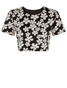 first-&-i-black-daisy-print-crop-top by new-look