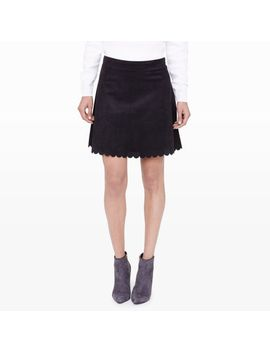 fatma-faux-suede-skirt by club-monaco