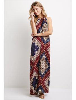 baroque-print-halter-maxi-dress by forever-21