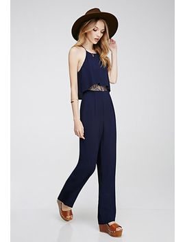 layered-lace-paneled-jumpsuit by forever-21