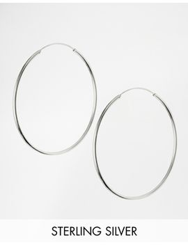 asos-sterling-silver-60mm-hoop-earrings by asos-collection