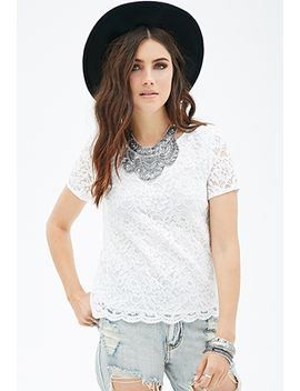boxy-lace-top by forever-21