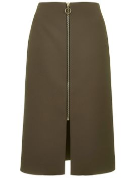 zip-front-midi-skirt by topshop