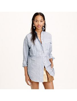 oversized-shirt-in-skinny-stripe by jcrew