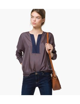 geometric-print-silk-large-blouse by massimo-dutti