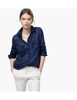 denim-and-ramie-shirt by massimo-dutti