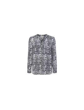 snake-print-v-neck-blouse by whistles