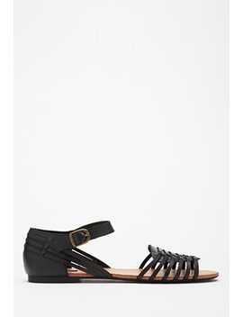 woven-faux-leather-sandals by forever-21