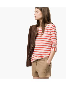 striped-t-shirt-with-sleeve-detail by massimo-dutti