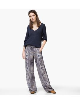 wide-paisley-print-trousers by massimo-dutti