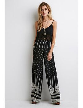 floral-print-wide-leg-pants by forever-21