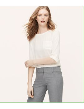 petite-pocket-blouse by loft