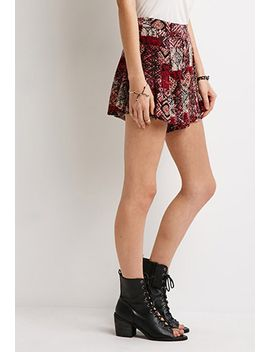 tribal-print-crepe-shorts by forever-21