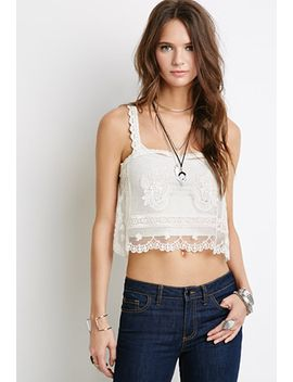 embroidered-mesh-crop-top by forever-21