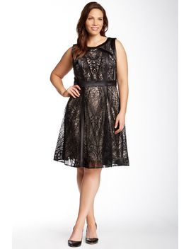 lace-dress-(plus-size) by julia-jordan