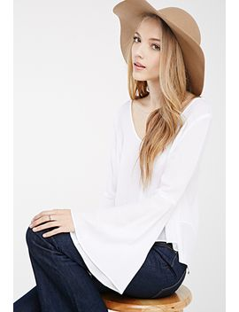 buttoned-bell-sleeve-blouse by forever-21
