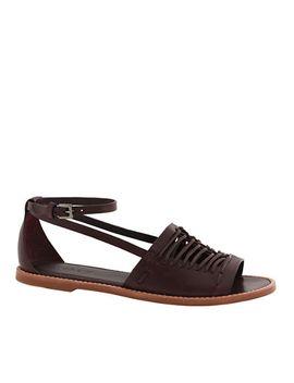 vachetta-leather-huarache-sandals by jcrew