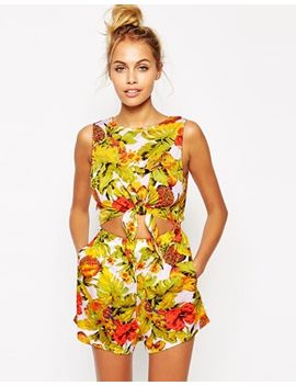 motel-cut-out-parrot-beach-romper by motel