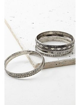 tribal-inspired-bangle-set by forever-21