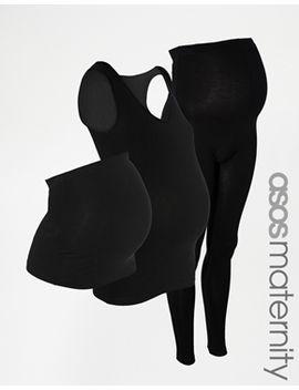 asos-maternity-basics-pack---tank_bump-band_leggings by asos-maternity