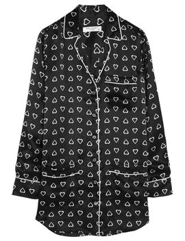 the-outnetgavin-heart-print-silk-satin-pajama-shirtdress by equipment