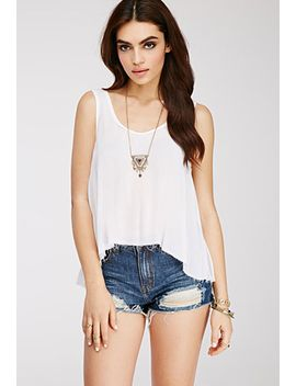 raw-cut-gauze-top by forever-21