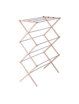 wood-drying-rack-with-vinyl-dowels-in-white by household-essentials