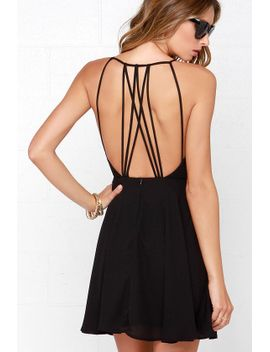 strappy-together-black-dress by lulus