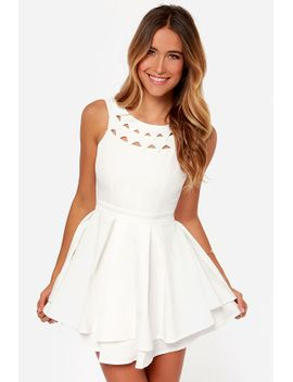 flirting-with-danger-cutout-ivory-dress by lulus