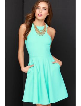 now-or-skater-mint-green-dress by lulus