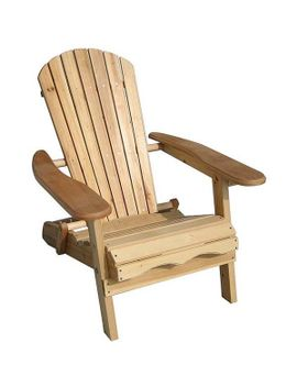 merry-products-foldable-adirondack-natural-finish-patio-chair-kit by merry-products