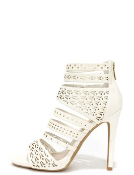 lacy-like-behavior-white-perforated-caged-heels by lulus