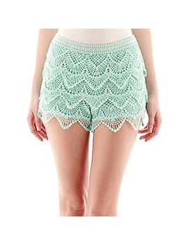 rewind-tiered-crochet-shorts by general