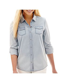 arizona-long-sleeve-denim-shirt by arizona