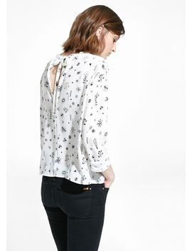 bow-printed-blouse by mango