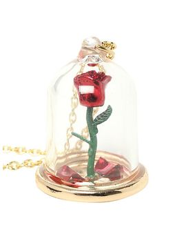 disney-beauty-and-the-beast-rose-glass-pendant by hot-topic
