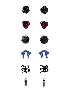black-butler-earring-set-6-pair by hot-topic