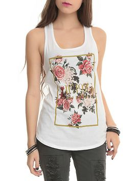 the-1975-floral-girls-tank-top by hot-topic