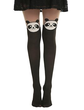 panda-faux-thigh-high-tights by hot-topic