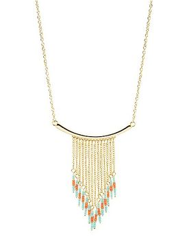 beaded-chain-fringe-necklace by charlotte-russe