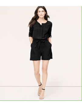 pleated-romper-with-4-inch-inseam by loft