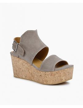 Molly Wedge by Taupe Nubuck