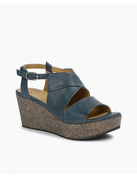 Melania Wedge by Teal Leather