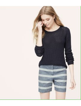 chambray-stripe-riviera-shorts-with-6-inch-inseam by loft