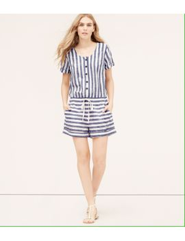 loft-beach-striped-romper by loft