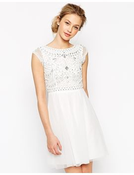 frock-and-frill-embellished-top-skater-dress by -frock-and-frill