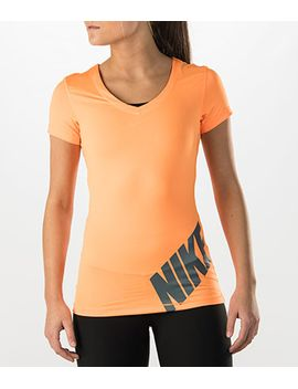 womens-nike-pro-logo-short-sleeve-t-shirt by nike