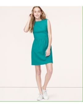 ottoman-flare-dress by loft