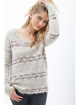 eyelash-knit-striped-sweater by forever-21