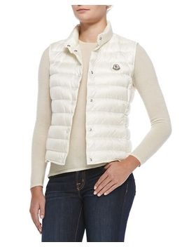 liane-puffer-vest,-white by moncler